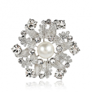 Broche-Bloem-Parel-strass