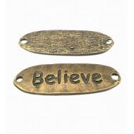 Tussenstuk Brons Believe