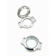 Steel zilver Connector - Memory Locket