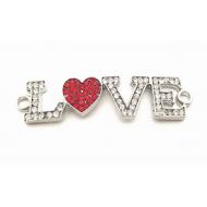 Tussenstuk Love hart met strass