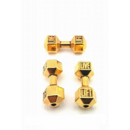 Connector Goud metaal Dumbbell/ Fitness / Sport  gewicht mini