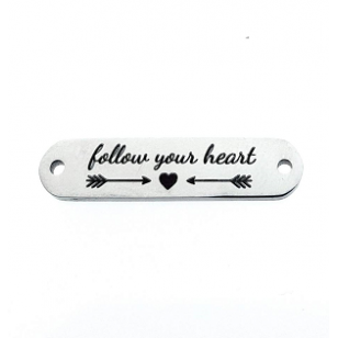 Tussenstuk RVS Follow your Heart