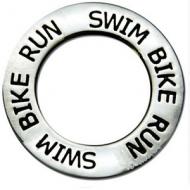 Ring met tekst Triathlon