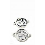 Connector Tibetan zilveren Ohm - Teken  #4