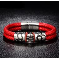 Armband-Leder-Skull-RVS