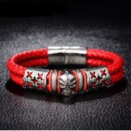 Armband-Leder-Skull-RVS-2