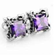 Oorbellen Crystal Purple