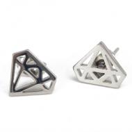 Oorbellen-Diamant-Steel