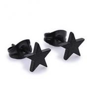 Oorbellen-Sterren-Zwart