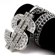 HipHop Ketting Dollar Crystal