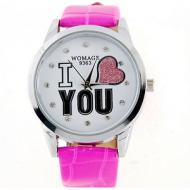 Horloge I love You- roze