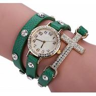 Horloge Wikkel Kruis Groen