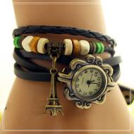 Horloge Vintage Leer Eiffel