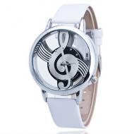 Horloge Muziek Wit