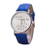 Horloge-Who-cares-Blauw