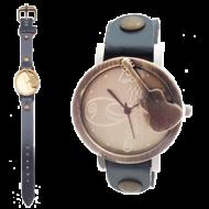 Horloge Gitaar - Brons Jeansblauw
