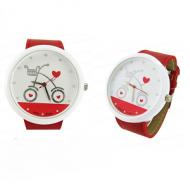 Horloge Rood met Fiets