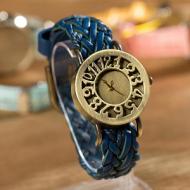 Horloge Brons Vintage Blue