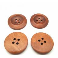 Houten knoop - naturel bruin