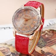 Horloge Bling  Rood croc