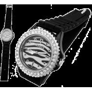Horloge Geneva Zebra strass