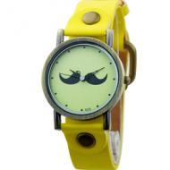 Horloge snor geel