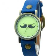 Horloge snor blauw