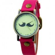 Horloge snor roze