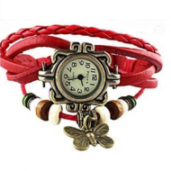 Horloge bordeau rood - BoHo style