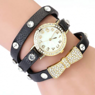 Horloge Wikkel Strik Zwart