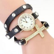 Horloge Wikkel Kruis Zwart
