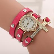 Horloge Wikkel Kruis Roze
