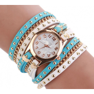 Horloge  Suede Blauwwit