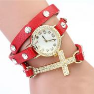 Horloge wikkel Kruis rood