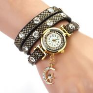 Horloge-Metallic-Zwart-Maan