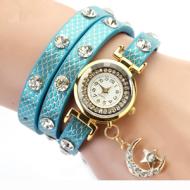 Horloge-Metallic-Maan-Blauw