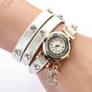 Horloge-Metallic-Maan-Wit