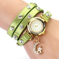 Horloge-Metallic-Maan-Groen