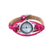 Horloge Gevlochten  Roze