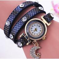 Horloge Wikkel Maan Blauw