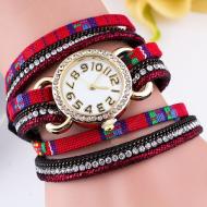Horloge Wikkel stof Rood