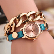 Horloge schakel blauw