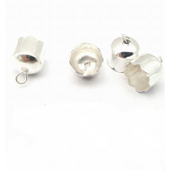 Kapje zilverkleur  10x6.5 x 2