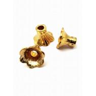 Metaal goud Bloem-kapjes - hoog model
