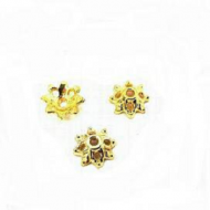 Kapje - goudkleur - bloem 10mm