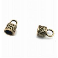 Bronzen Eindkap - 7mm koord