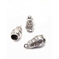 Zilveren metaal Eindkap - Matroesjka