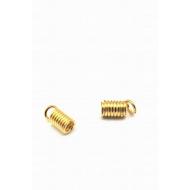 Veterklem goud - veer 8x2mm