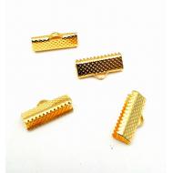 Goud Metalen Veterklem 16mm