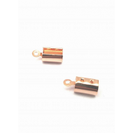Veter-klem rose gold  4mm